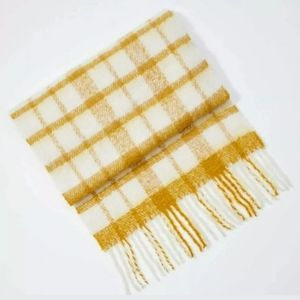 Loft Plaid Blanket Scarf Gold